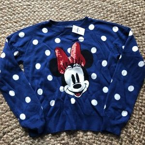 Gap Kids Disney Minnie Mouse sequin dot sweater